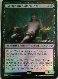 Magic the Gathering Promotional Single Tasigur, the Golden Fang FOIL - NEAR MINT (NM)