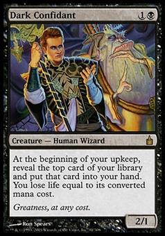 Magic the Gathering Ravnica: City of Guilds Single Dark Confidant - MODERATE PLAY (MP)