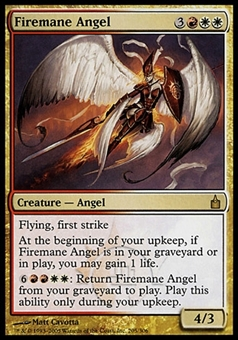 Magic the Gathering Ravnica: City of Guilds Single Firemane Angel - MODERATE PLAY (MP)