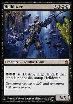 Magic the Gathering Ravnica: City of Guilds Single Helldozer - SLIGHT PLAY (SP)