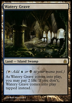 Magic the Gathering Ravnica: City of Guilds Single Watery Grave - MODERATE PLAY (MP)