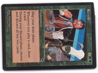 Magic the Gathering Tempest Single Recyle (CRIMPED) - HEAVY PLAY (HP)