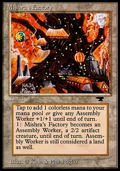Magic the Gathering Antiquities Single Mishra's Factory (Autumn) - HEAVY PLAY (HP)