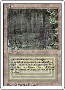 Magic the Gathering Revised Single Bayou - SLIGHT / MODERATE PLAY (SP/MP)