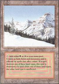 Magic the Gathering Revised Edition Single Taiga - NEAR MINT / SLIGHT PLAY (NM/SP)