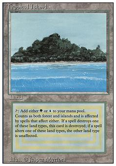 \Magic the Gathering Revised Edition Single Tropical Island - SLIGHT / MODERATE PLAY (SP/MP)