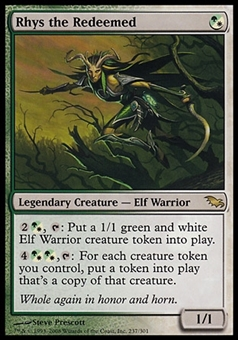 Magic the Gathering Shadowmoor Single Rhys the Redeemed - MODERATE PLAY (MP)