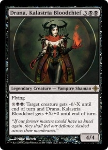 Magic the Gathering Rise of Eldrazi Single Drana, Kalastria Bloodchief FOIL - NEAR MINT