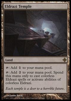 Magic the Gathering Rise of the Eldrazi Single Eldrazi Temple - SLIGHT PLAY (SP)