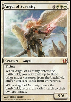 Magic the Gathering Return to Ravnica Single Angel of Serenity FOIL - SLIGHT PLAY (SP)