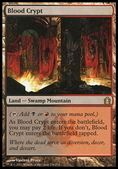 Magic the Gathering Return to Ravnica Single Blood Crypt - MODERATE PLAY (MP)