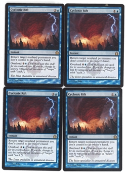 Magic the Gathering Return to Ravnica PLATSET Cyclonic Rift X4 - SLIGHT PLAY (SP)