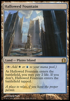 Magic the Gathering Return to Ravnica Single Hallowed Fountain FOIL - SLIGHT PLAY (SP)