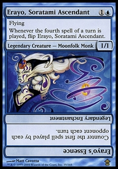 Magic the Gathering Saviors of Kami Single Erayo, Soratami Ascendant - SLIGHT PLAY (SP)