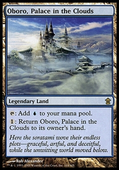 Magic the Gathering Saviors Single Oboro, Palace in the Clouds - MODERATE PLAY (MP)