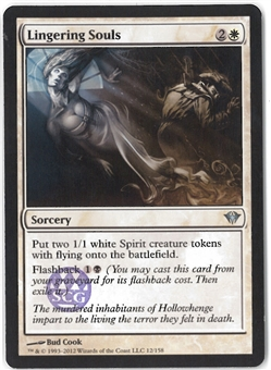 Magic the Gathering Dark Ascension Single Lingering Souls (SCG Stamp) - NEAR MINT (NM)