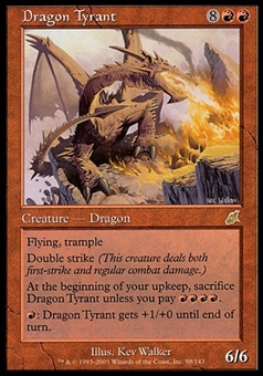 Magic the Gathering Scourge Single Dragon Tyrant - SLIGHT PLAY (SP)