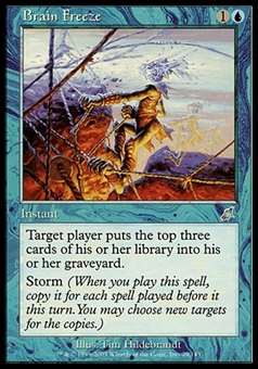 Magic the Gathering Scourge Single Brain Freeze - MODERATE PLAY (MP)