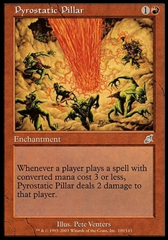 Magic the Gathering Scourge Single Pyrostatic Pillar FOIL - MODERATE PLAY (MP)