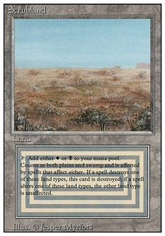 Magic the Gathering 3rd Ed (Revised) Single Scrubland - NEAR MINT (NM)