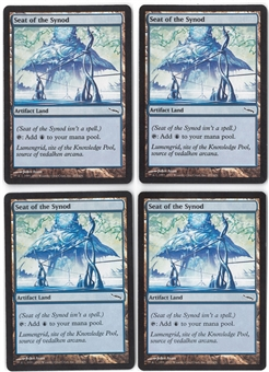 Magic the Gathering Mirrodin PLAYSET Seat of the Synod X4 - SLIGHT PLAY (SP)