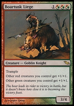 Magic the Gathering Shadowmoor Single Boartusk Liege FOIL - SLIGHT PLAY (SP)