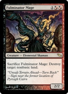 Magic the Gathering Shadowmoor Single Fulminator Mage - MODERATE PLAY (MP)