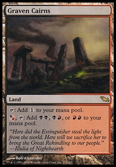 Magic the Gathering Shadowmoor Single Graven Cairns - MODERATE PLAY (MP)