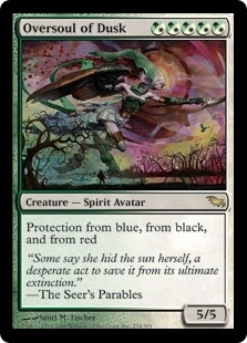 Magic the Gathering Shadowmoor Single Oversoul of Dusk Foil - MODERATE PLAY (MP)