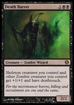Magic the Gathering Shards of Alara Single Death Baron FOIL - SLIGHT PLAY (SP)