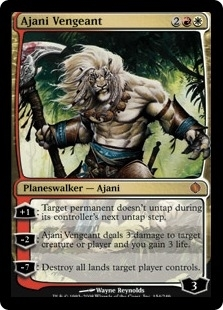 Magic the Gathering Shards of Alara Single Ajani Vengeant - SLIGHT PLAY (SP)