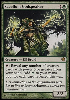 Magic the Gathering Shards of Alara Single Sacellum Godspeaker FOIL - NEAR MINT (NM)
