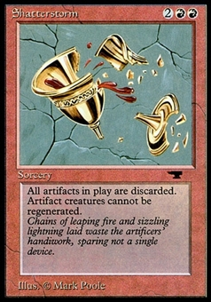 Magic the Gathering Antiquities Single Shatterstorm - MODERATE PLAY (MP)