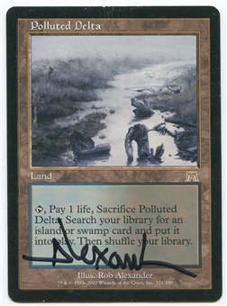 Magic the Gathering Onslaught Single Polluted Delta (SIGNED) - MODERATE PLAY (MP)