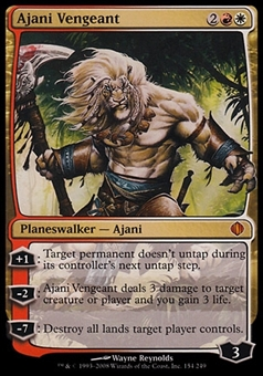 Magic the Gathering Shards of Alara Single Ajani Vengeant - MODERATE PLAY (MP)