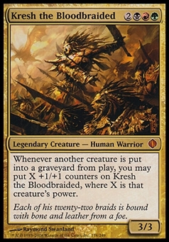 Magic the Gathering Shards of Alara Single Kresh the Bloodbraided - SLIGHT PLAY (SP)