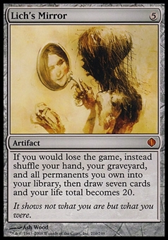 Magic the Gathering Shards of Alara Single Lich's Mirror - SLIGHTLY PLAYED (SP)