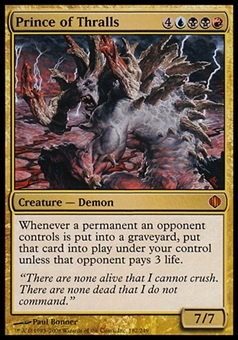 Magic the Gathering Shards of Alara Single Prince of Thralls - MODERATE PLAY (MP)
