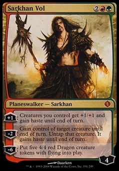 Magic the Gathering Shards of Alara Sarkhan Vol - MODERATE PLAY (MP)
