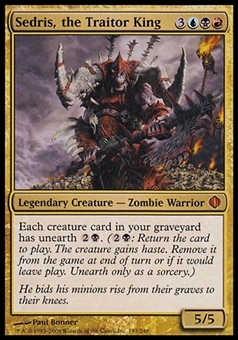 Magic the Gathering Shards of Alara Single Sedris, the Traitor King - SLIGHT PLAY (SP)