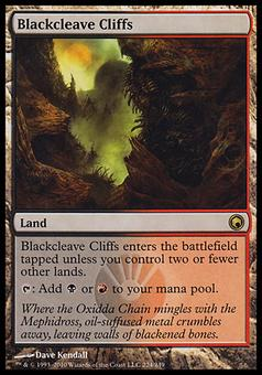 Magic the Gathering Scars of Mirrodin Single Blackcleave Cliffs - MODERATE PLAY (MP)