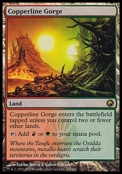 Magic the Gathering Scars of Mirrodin Single Copperline Gorge - SLIGHT PLAY (SP)