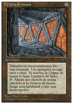 Magic the Gathering Promotional SPANISH Single Mana Crypt - SLIGHT PLAY (SP)
