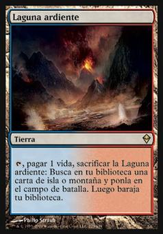 Magic the Gathering Zendikar Single Scalding Tarn SPANISH - MODERATE PLAY (MP)