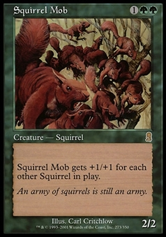 Magic the Gathering Odyssey CHINESE Single Squirrel Mob - NEAR MINT (NM)