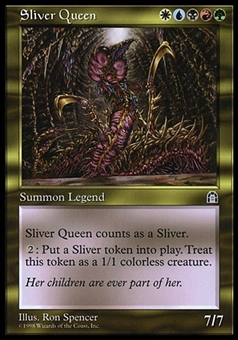 Magic the Gathering Stronghold SPANISH Single Sliver Queen - NEAR MINT (NM)