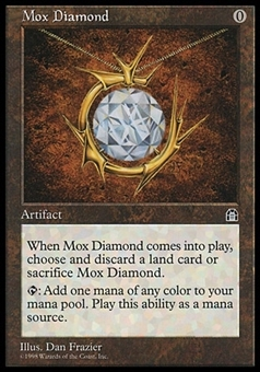 Magic the Gathering Stronghold Single Mox Diamond - HEAVY PLAY (HP)