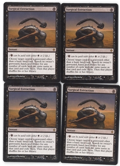 Magic the Gathering New Phyrexia PLAYSET Surgical Extraction X4 - NEAR MINT (NM)
