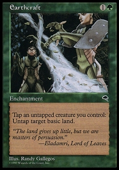 Magic the Gathering Tempest Single Earthcraft - MODERATE PLAY (MP)