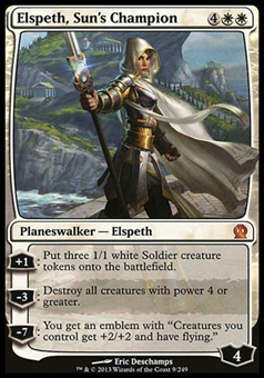 Magic the Gathering Theros Single Elspeth, Sun's Champion - SLIGHT PLAY (SP)